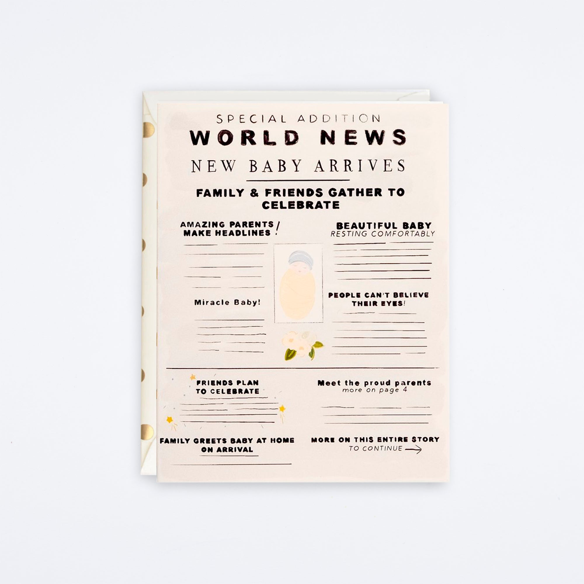 World News Baby Card