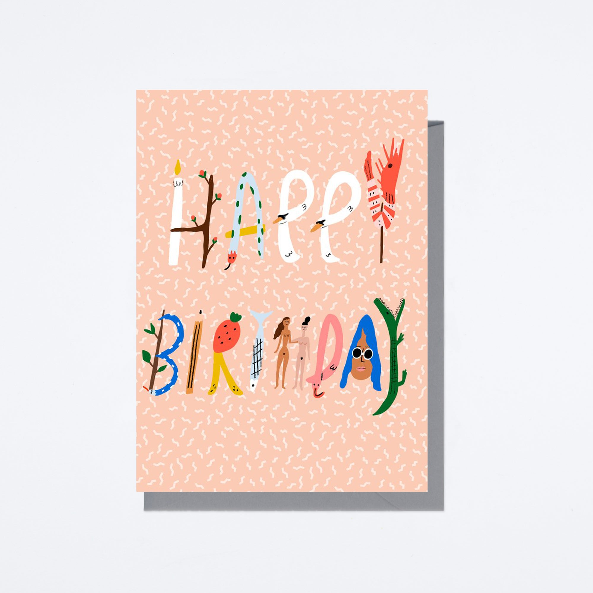 Spell It Out Birthday Card