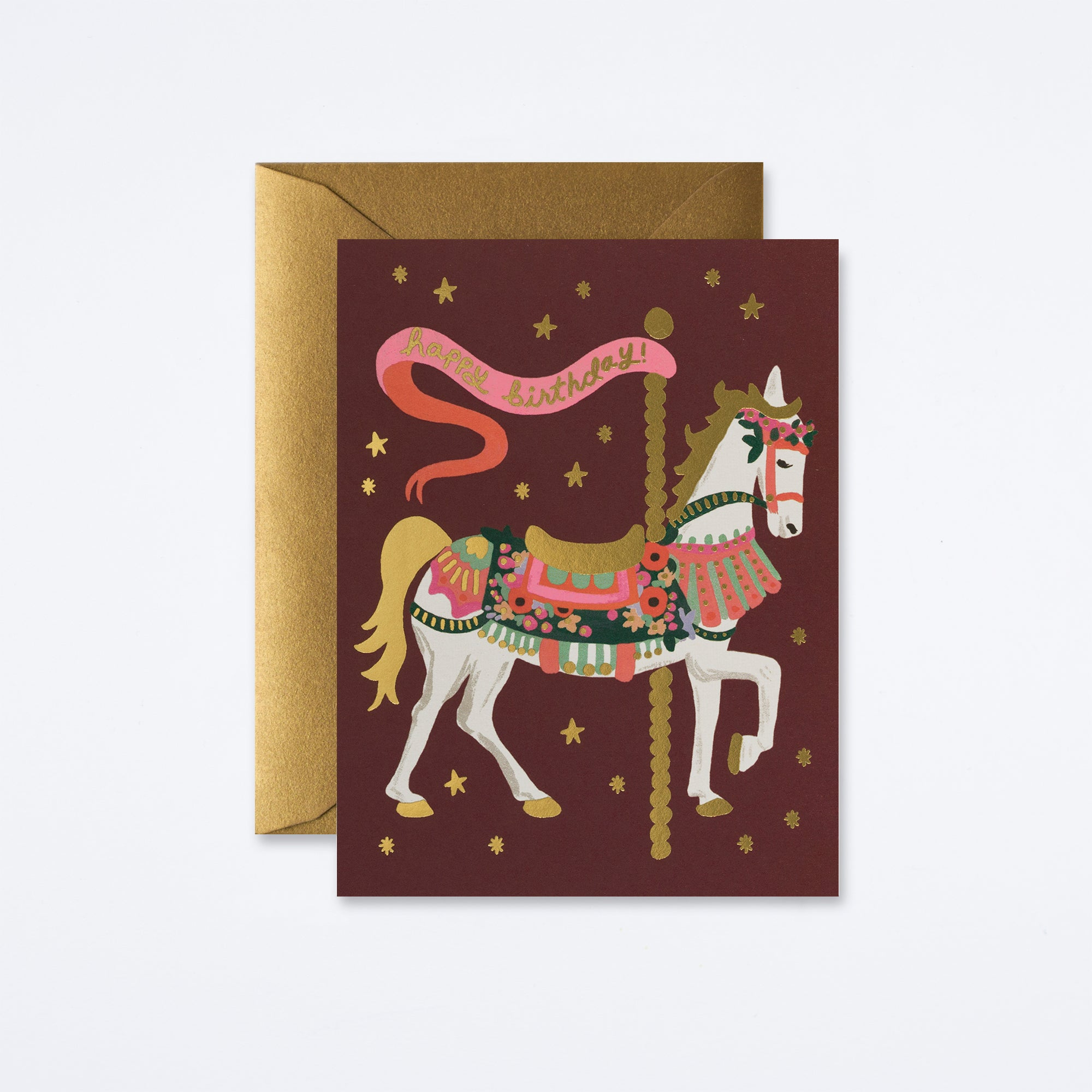 Carousel Birthday Card