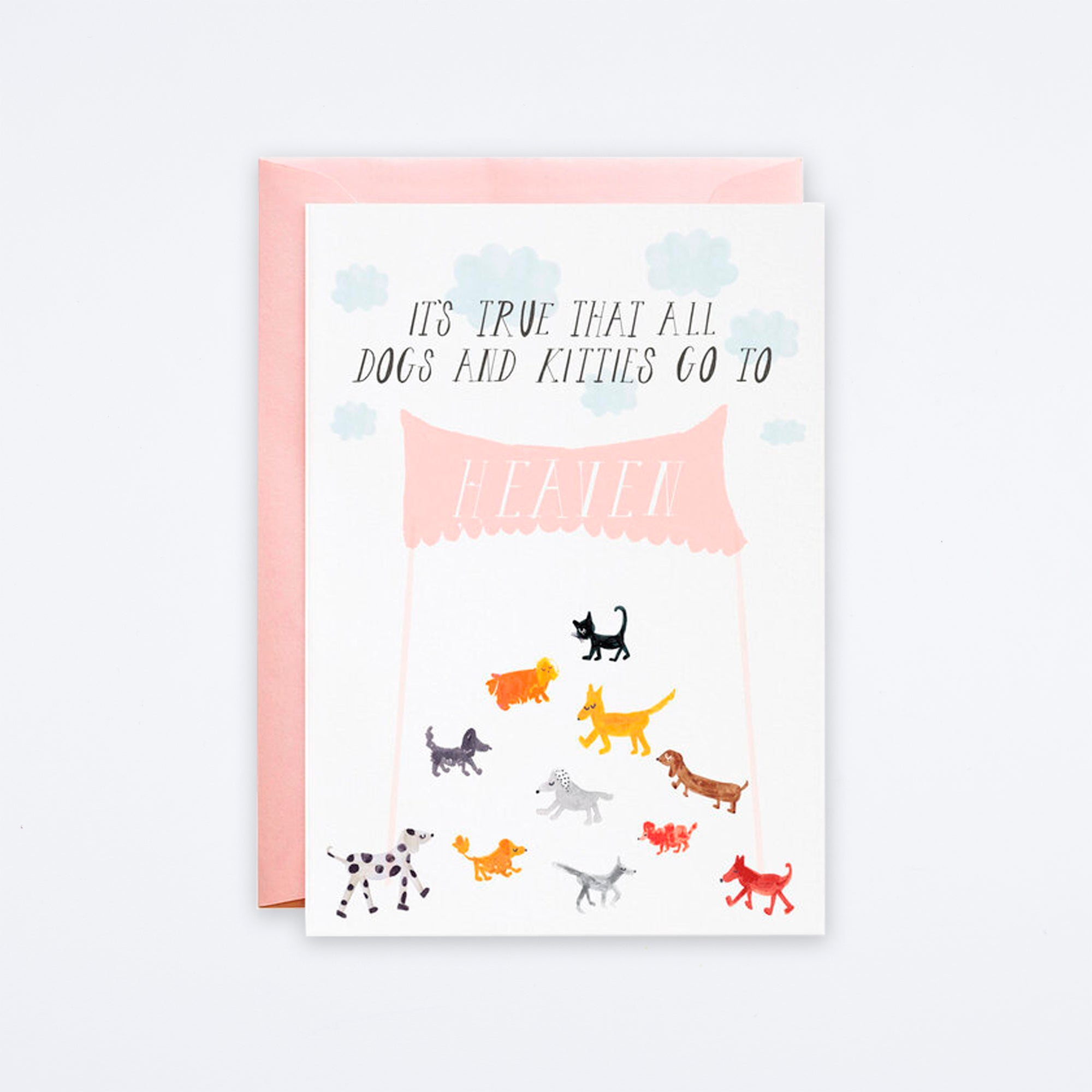 Doggies in Heaven Card