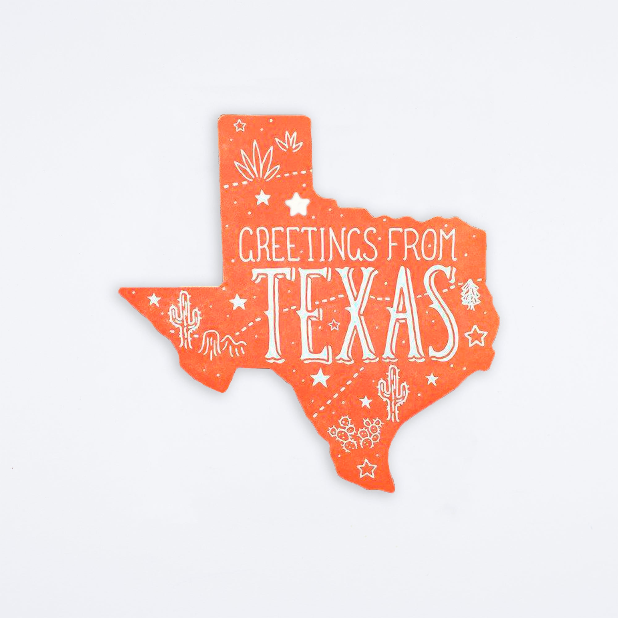 Greetings from Texas Die Cut Postcard