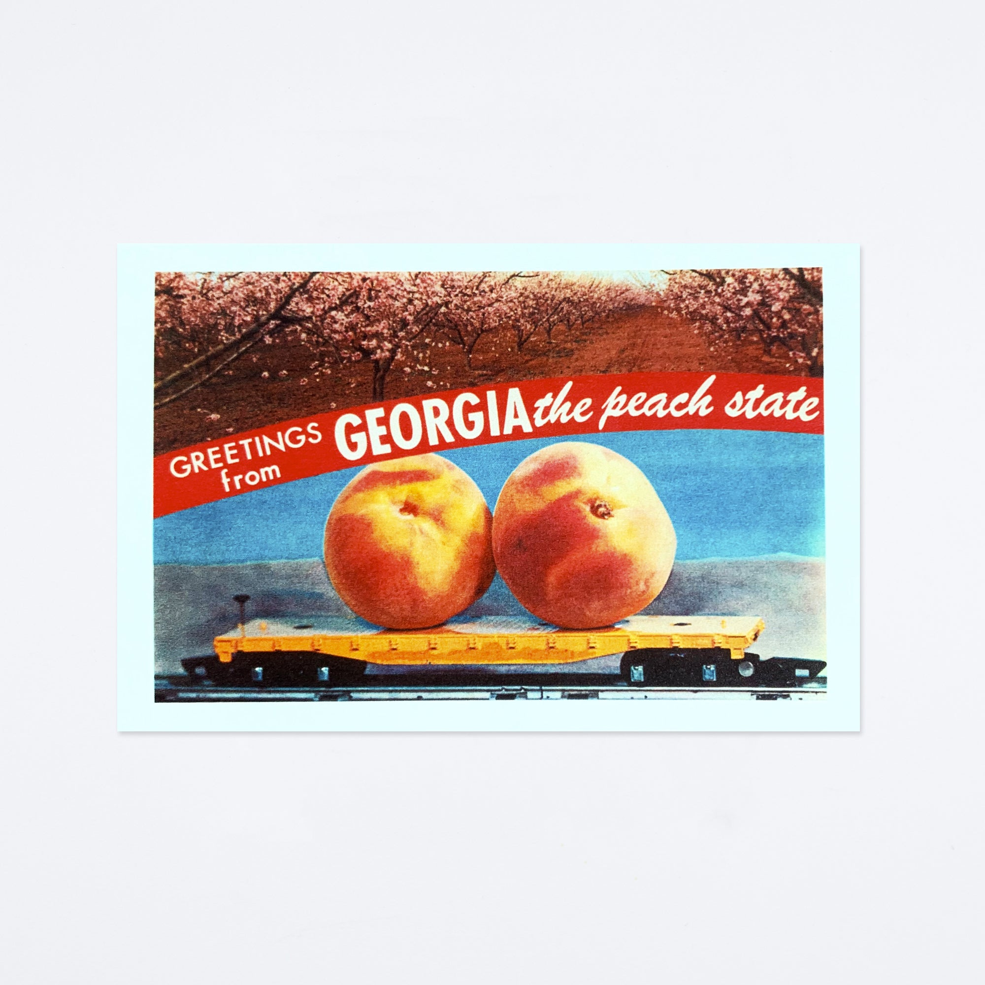 Greetings from the Peach State Postcard