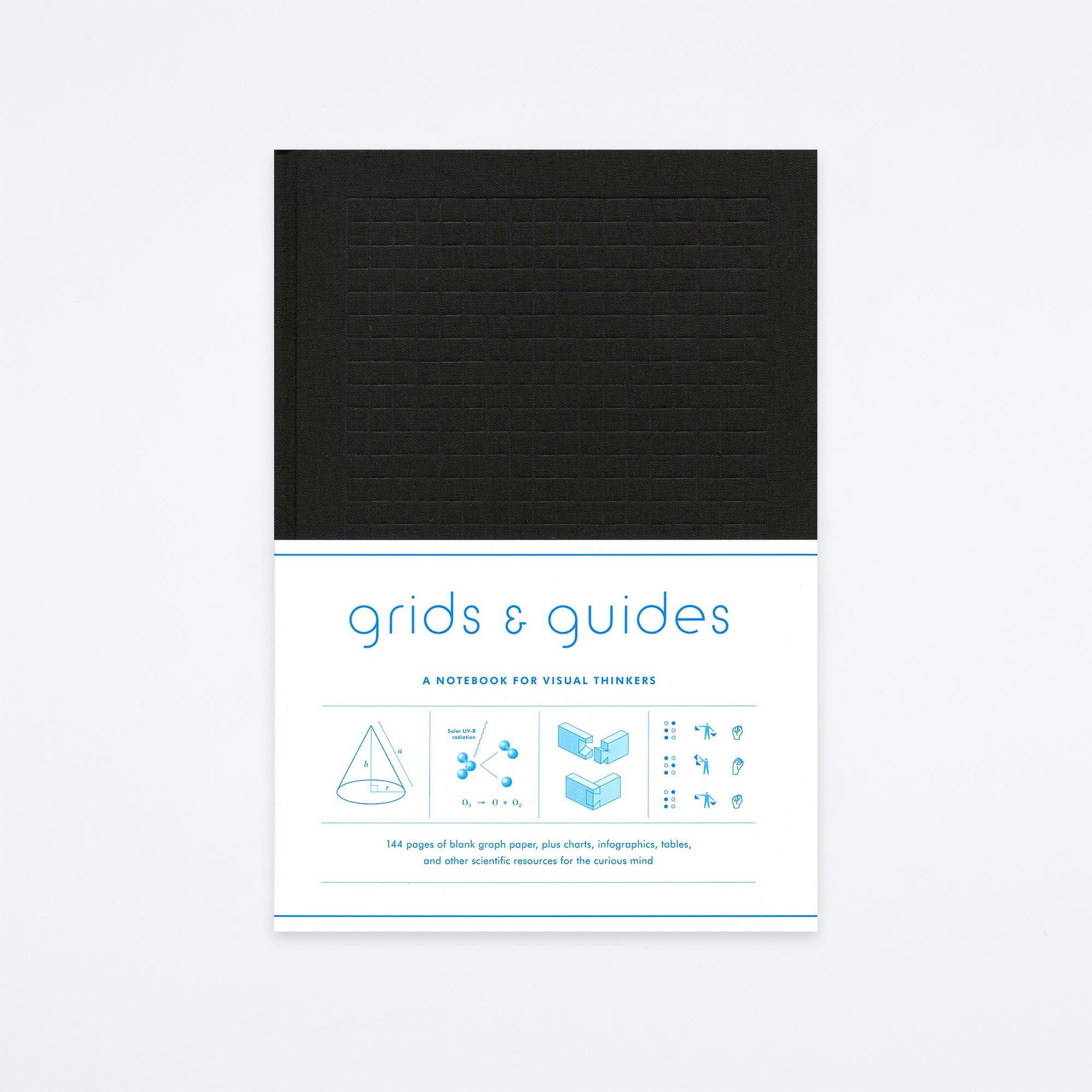 Black Grids & Guides Notebook