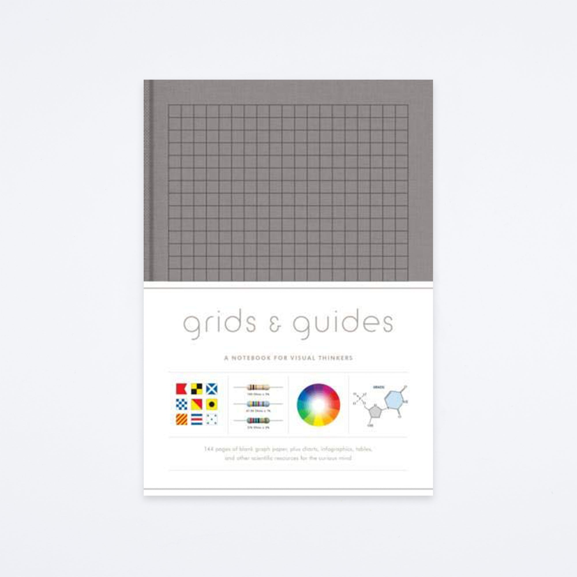 Gray Grids & Guides Notebook