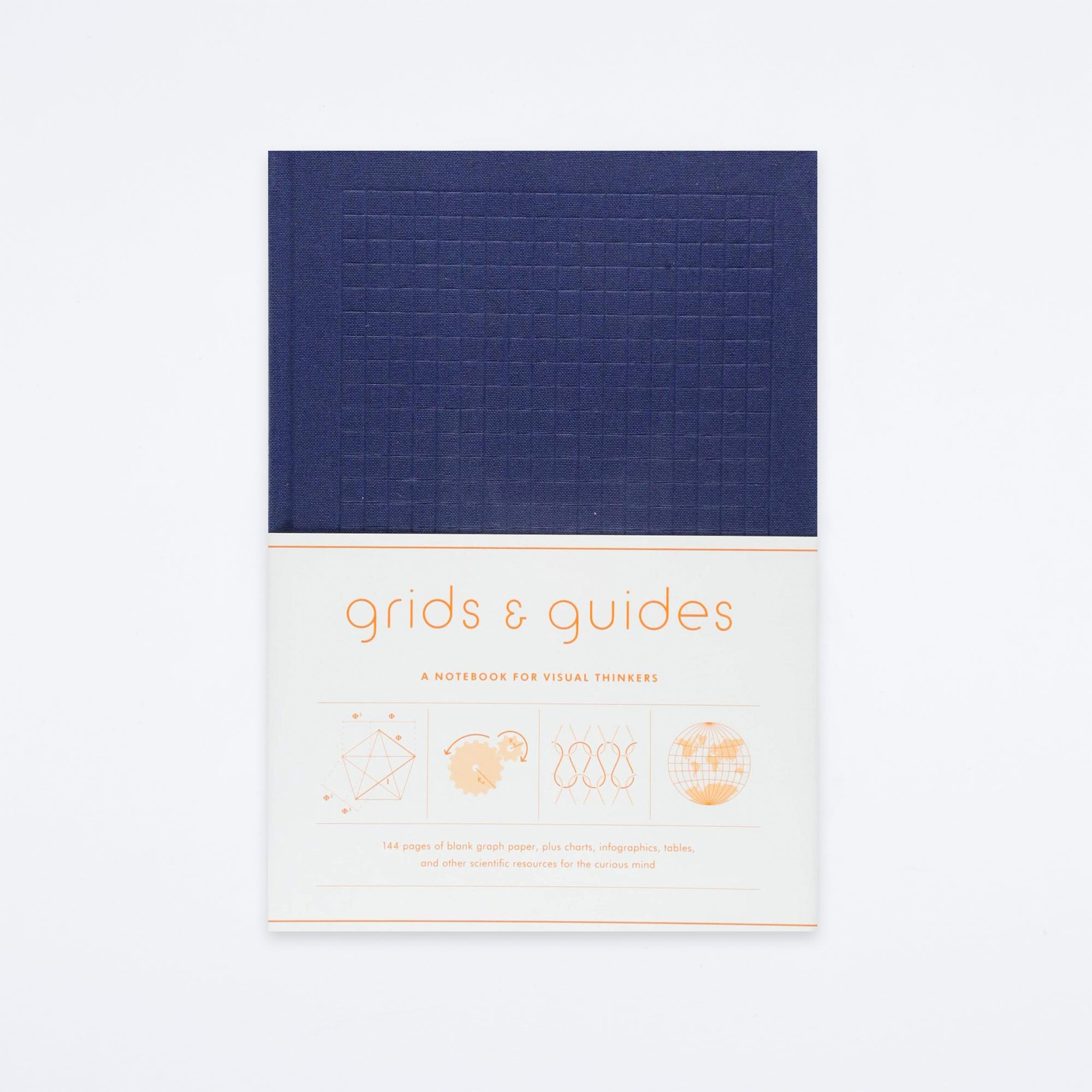 Navy Grids & Guides Notebook