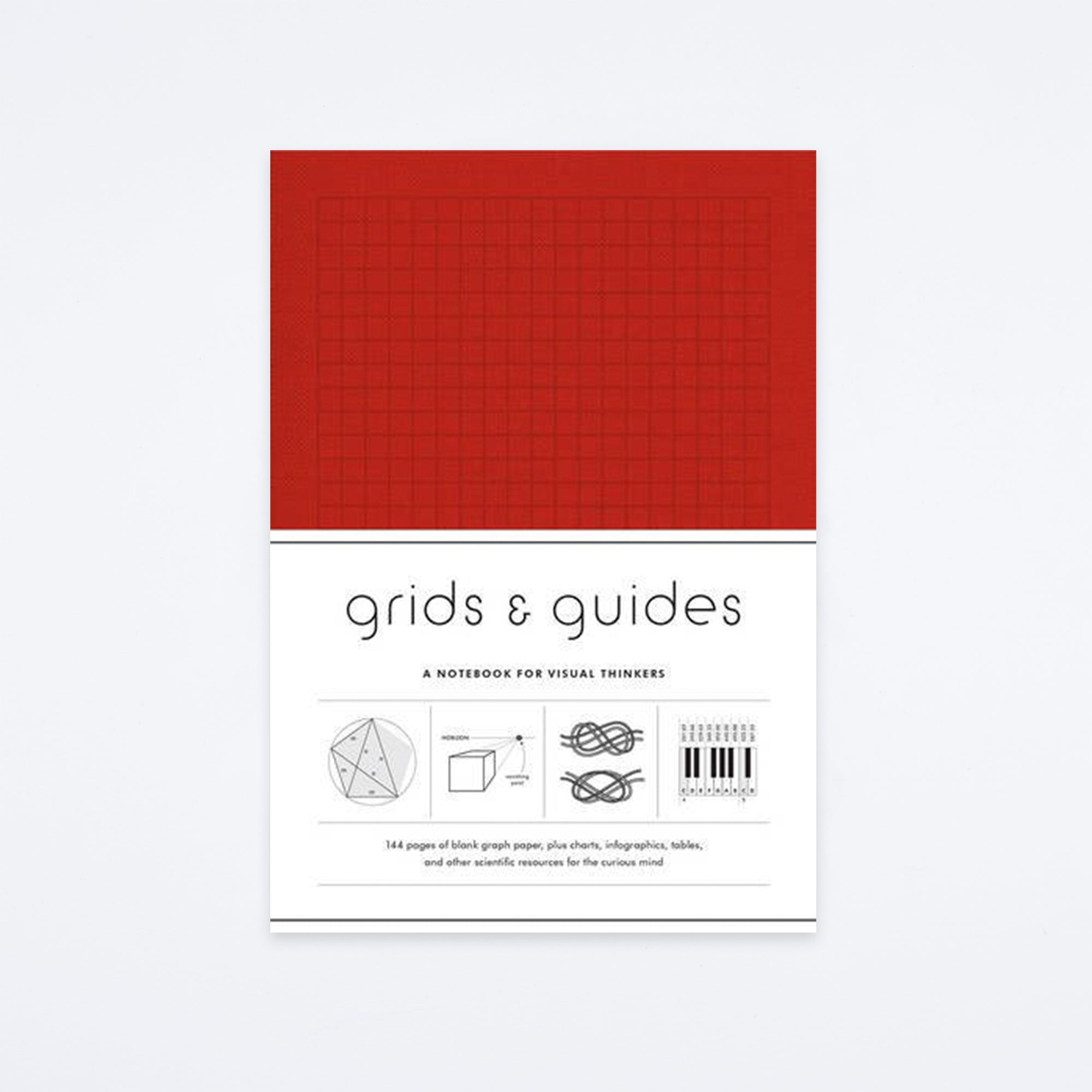 Red Grids & Guides Notebook