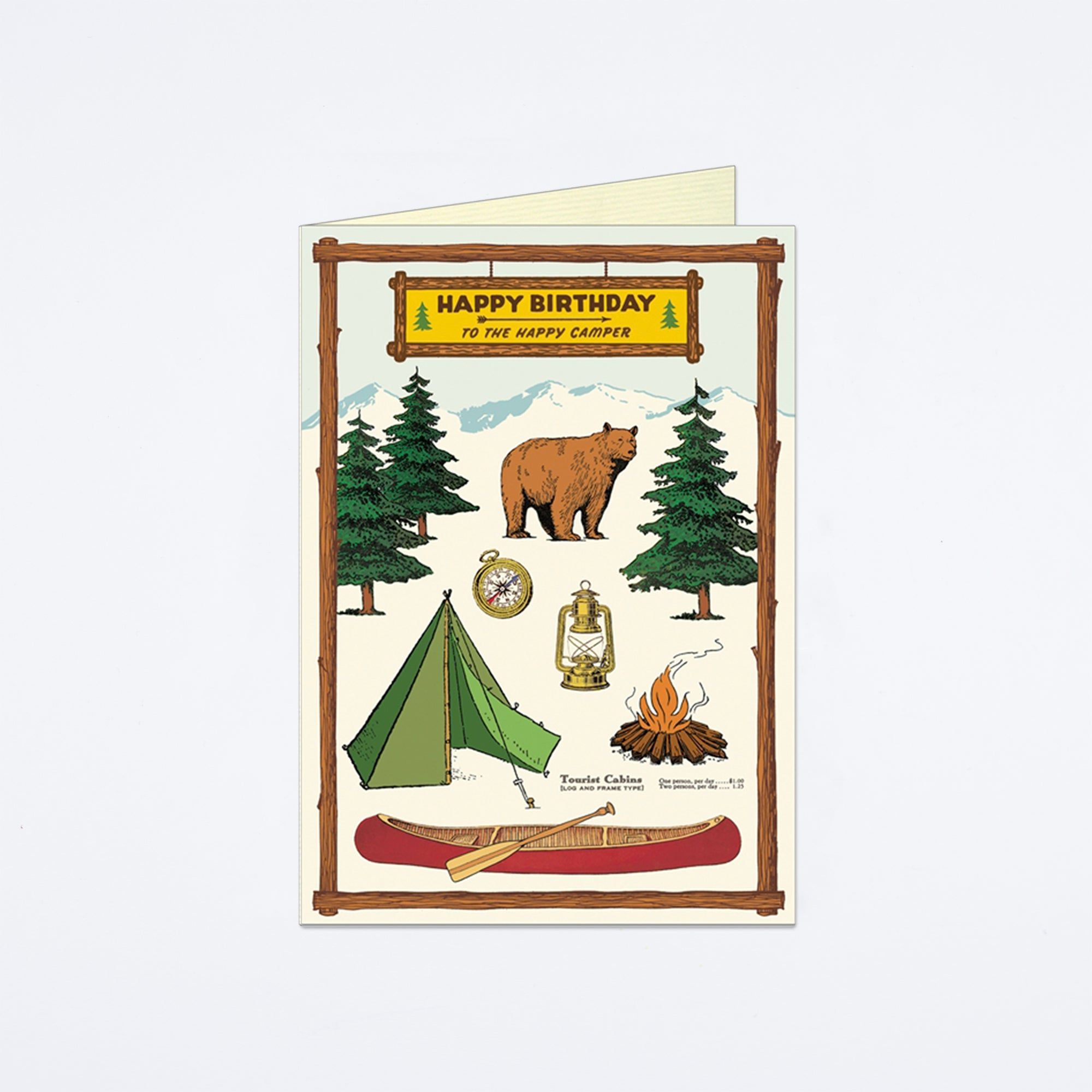 Happy Birthday Camping Card