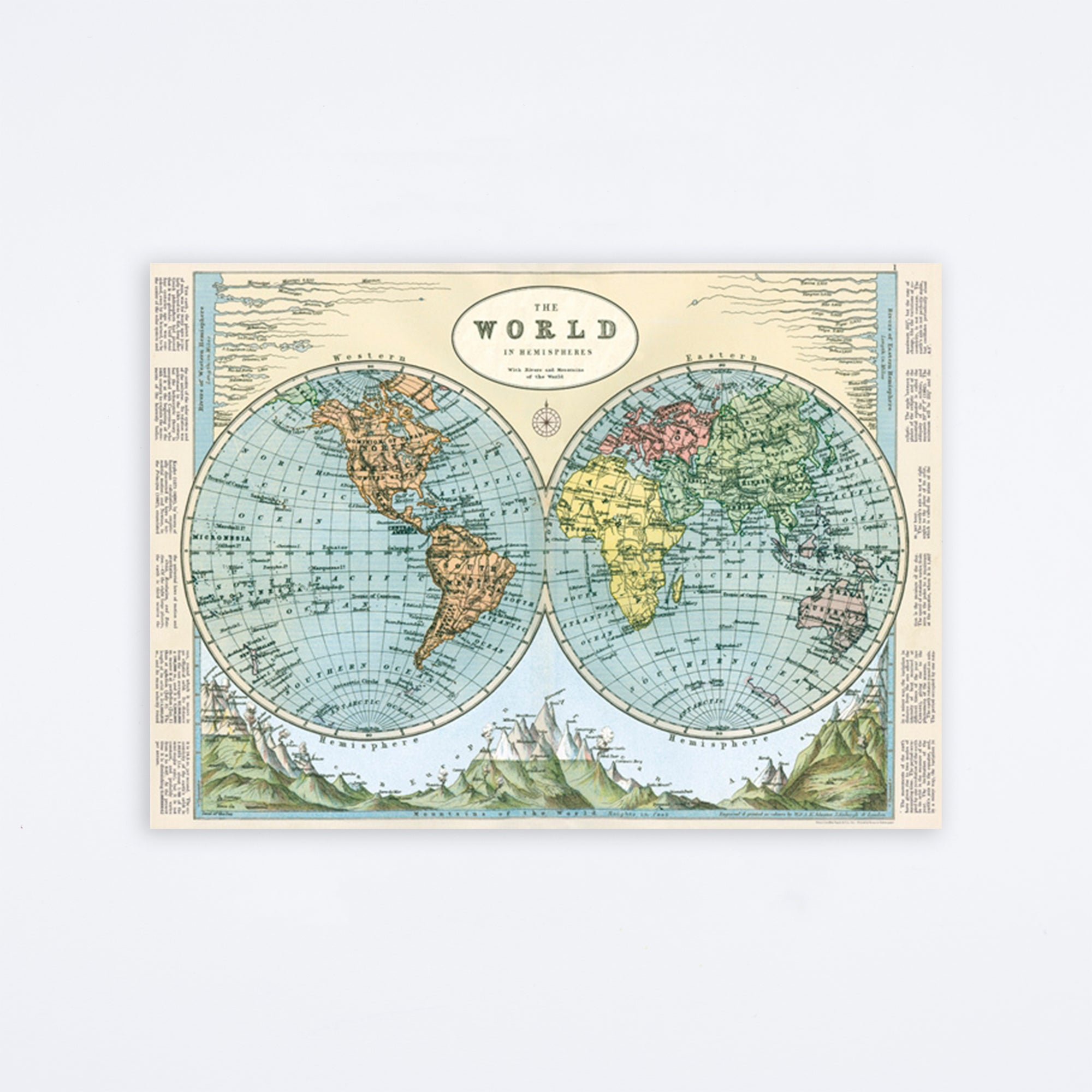 Hemispheres Map 2 Wrap