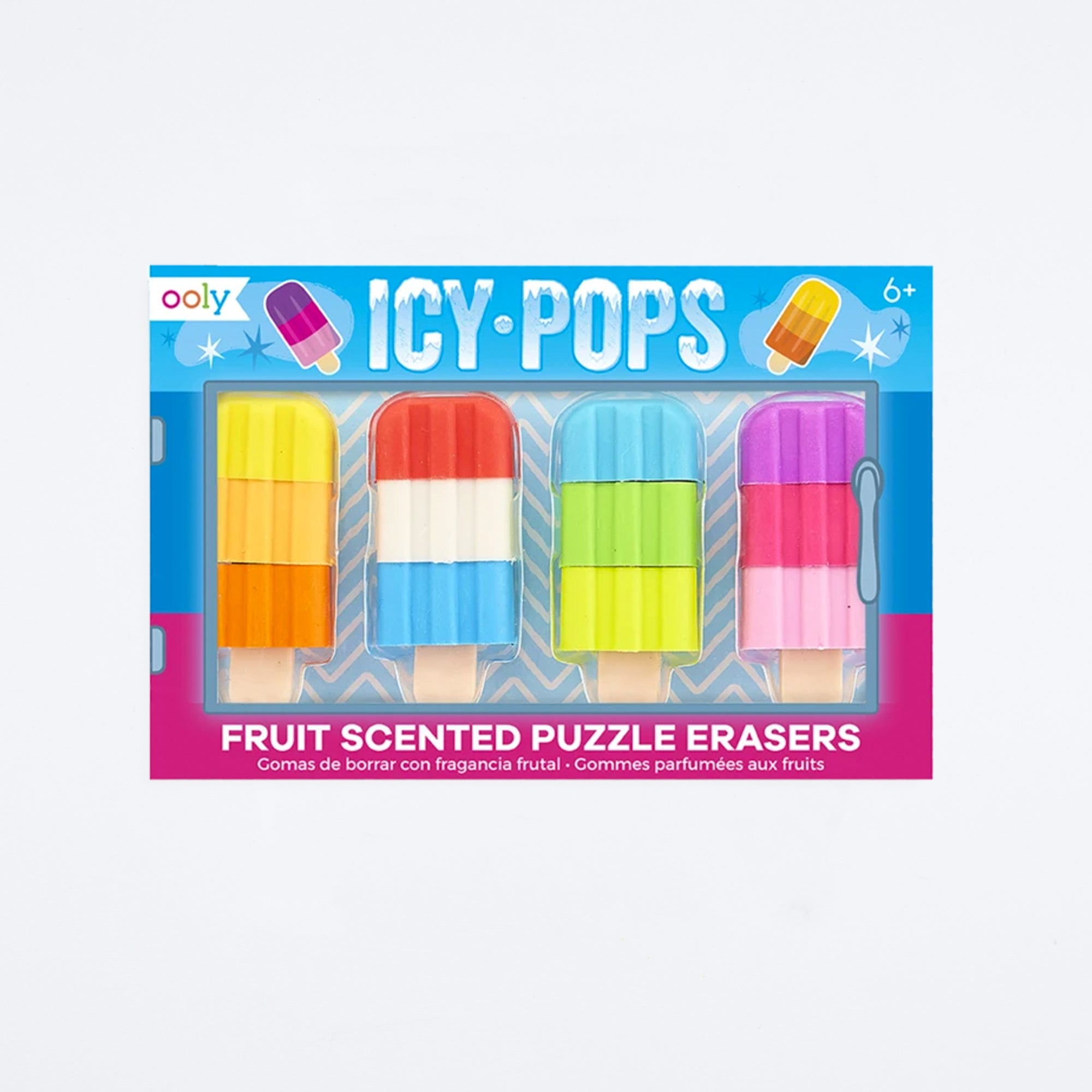 Icy Pops Scented Puzzle Erasers