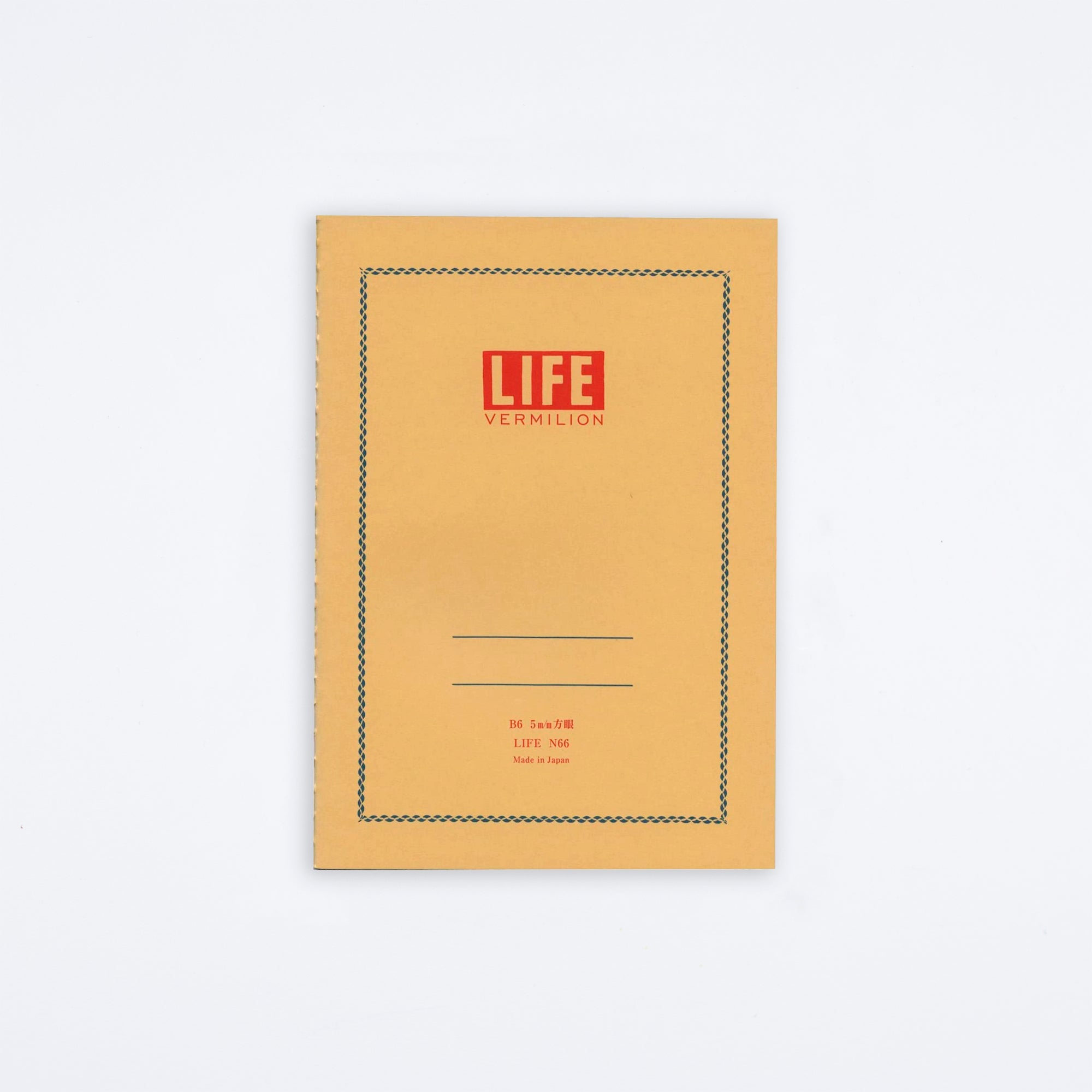 Life Vermillion B6 Notebook