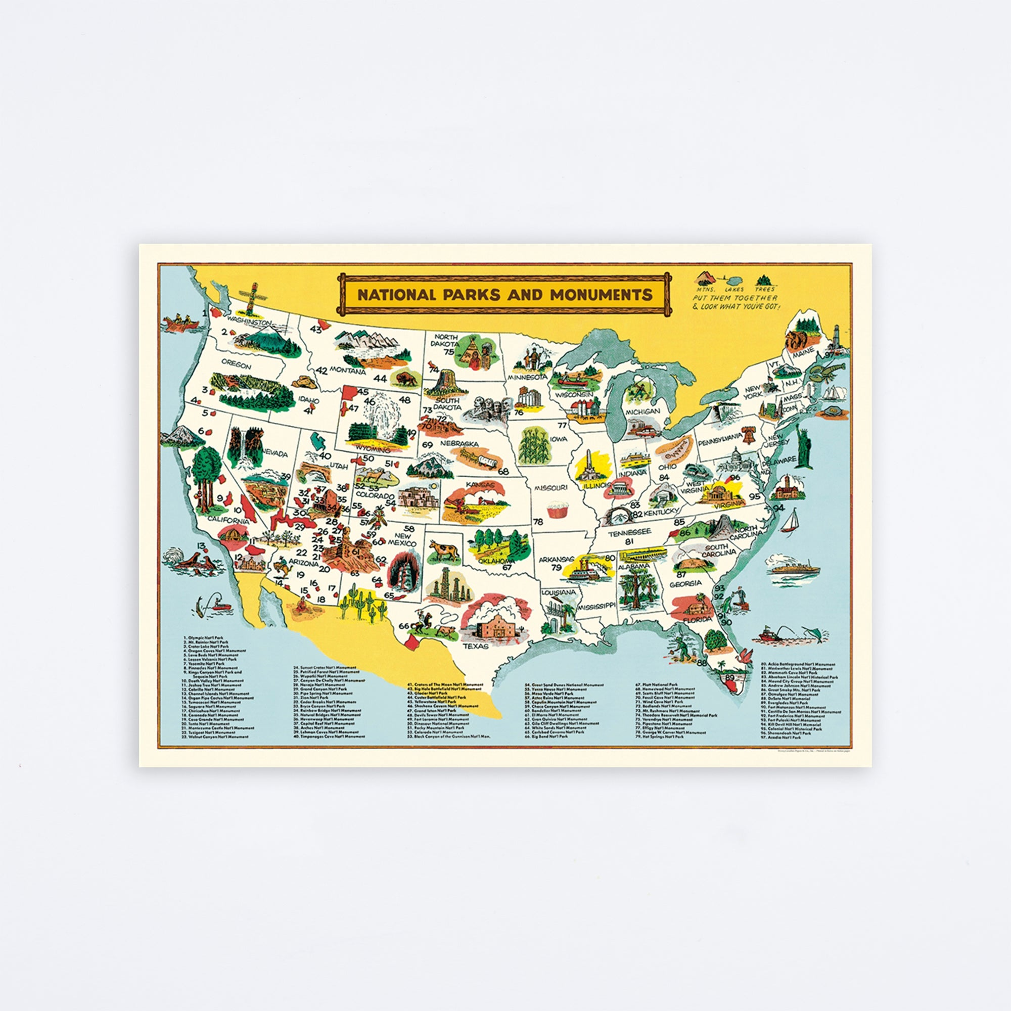 National Parks Map Wrap