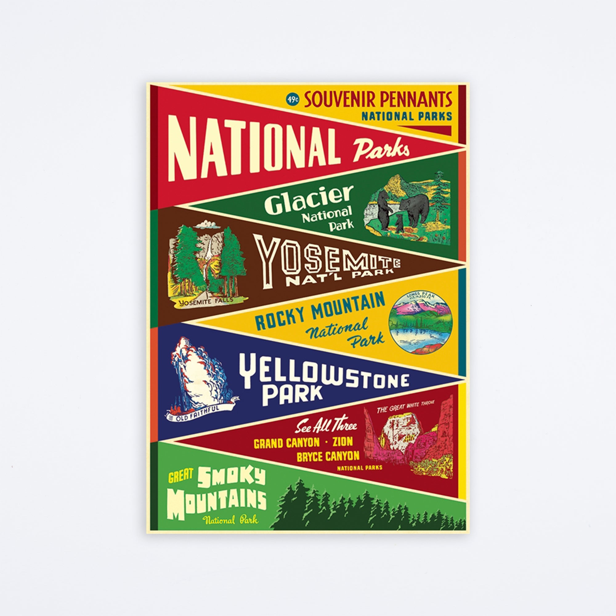 National Parks Pennants Wrap