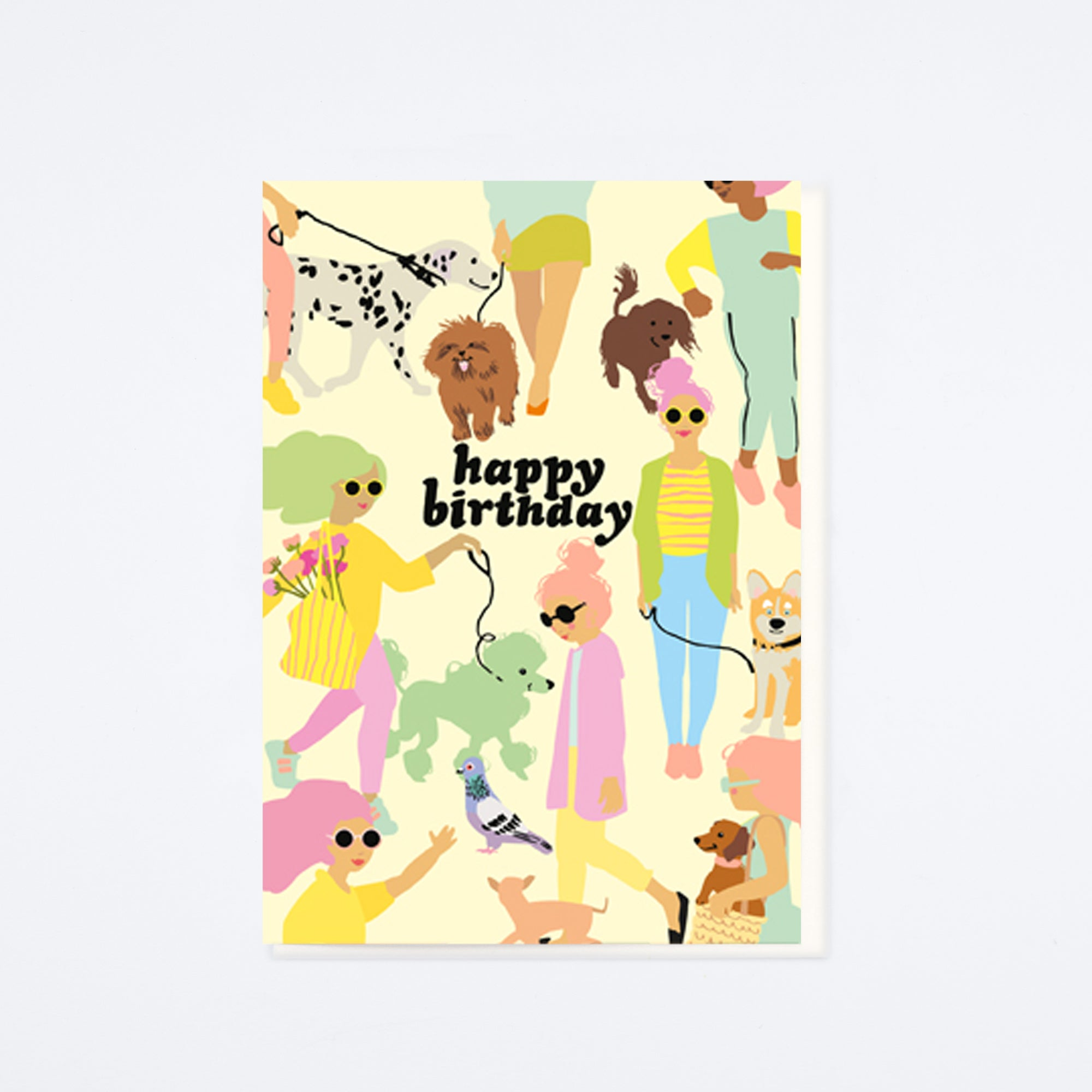 Dog Walkers Birthday Card
