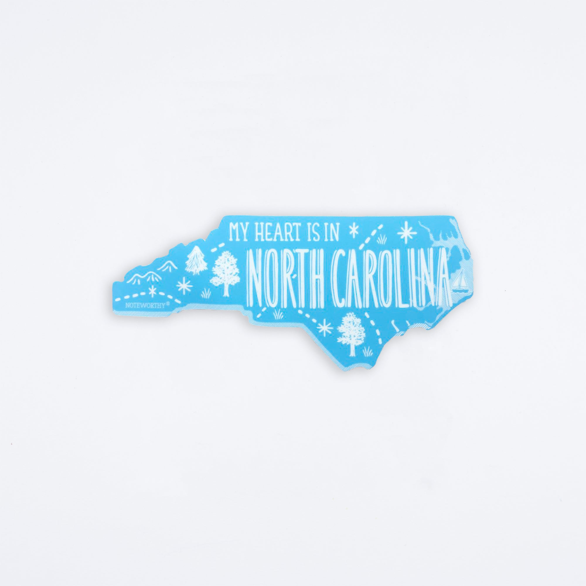 North Carolina Die Cut Vinyl Sticker