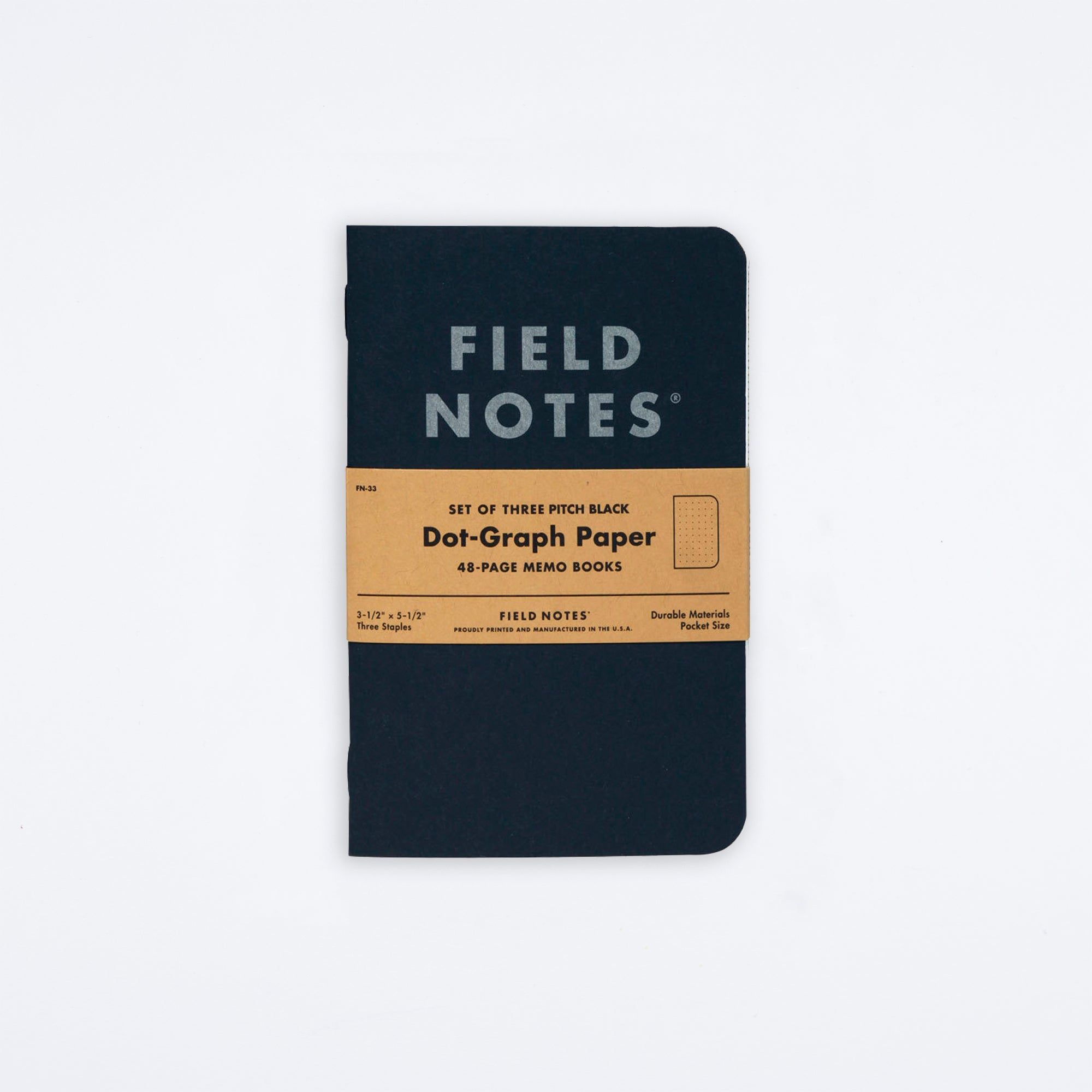 Pitch Black Memo Book Notebook Set