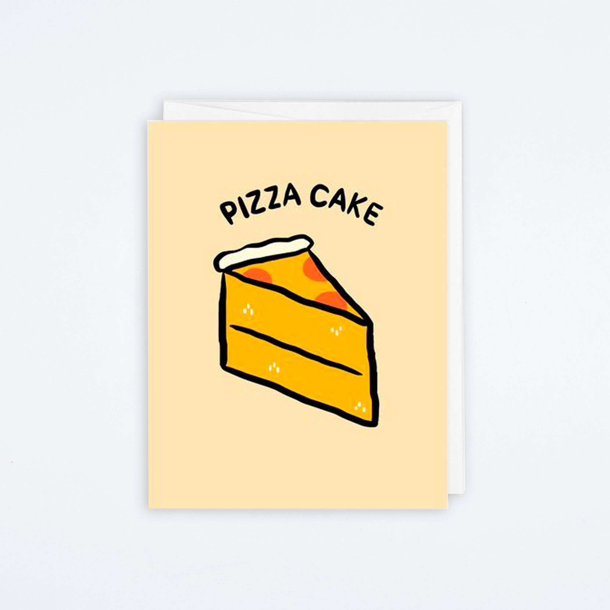 Pizza Cake Card