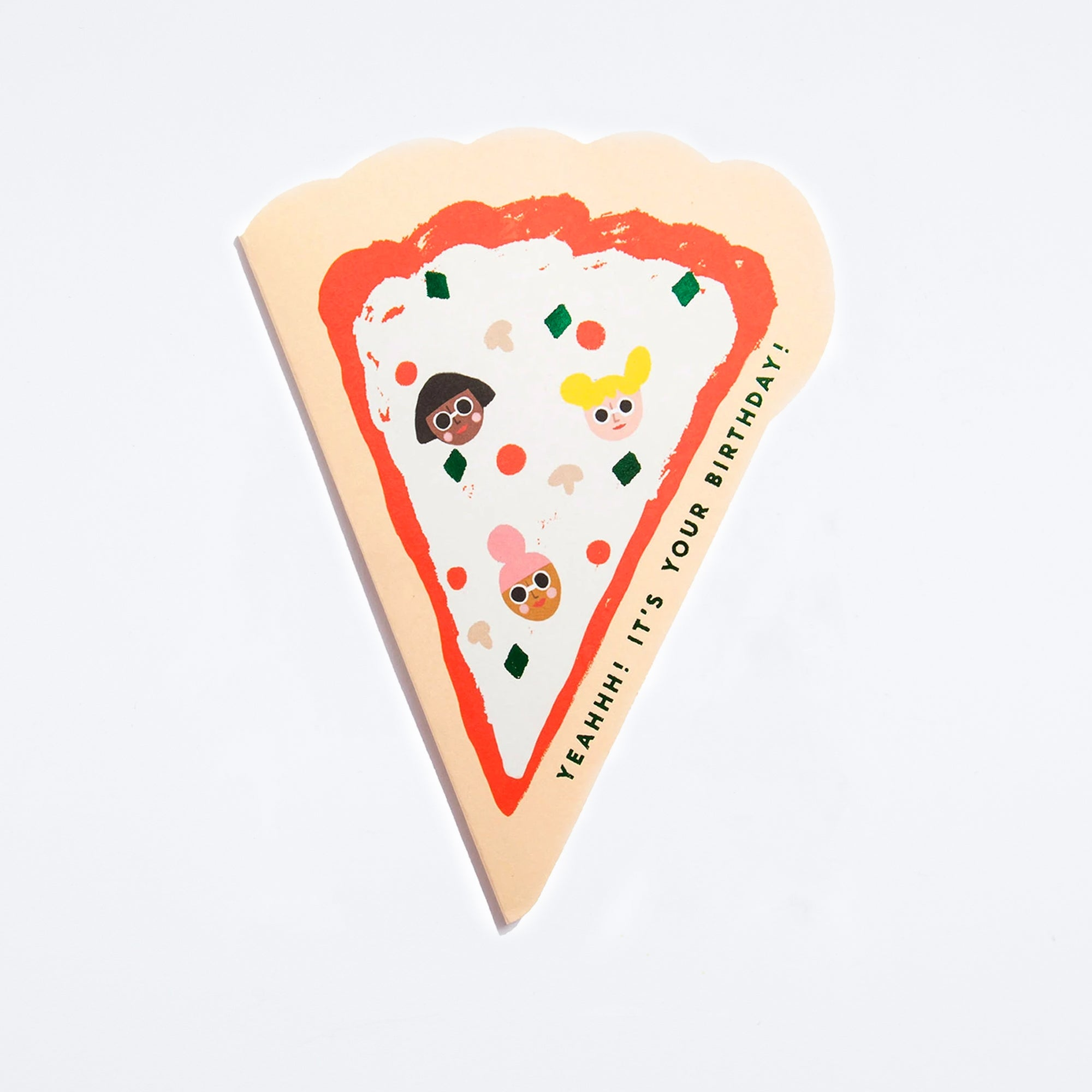 Pizza Shaped Birthday Card