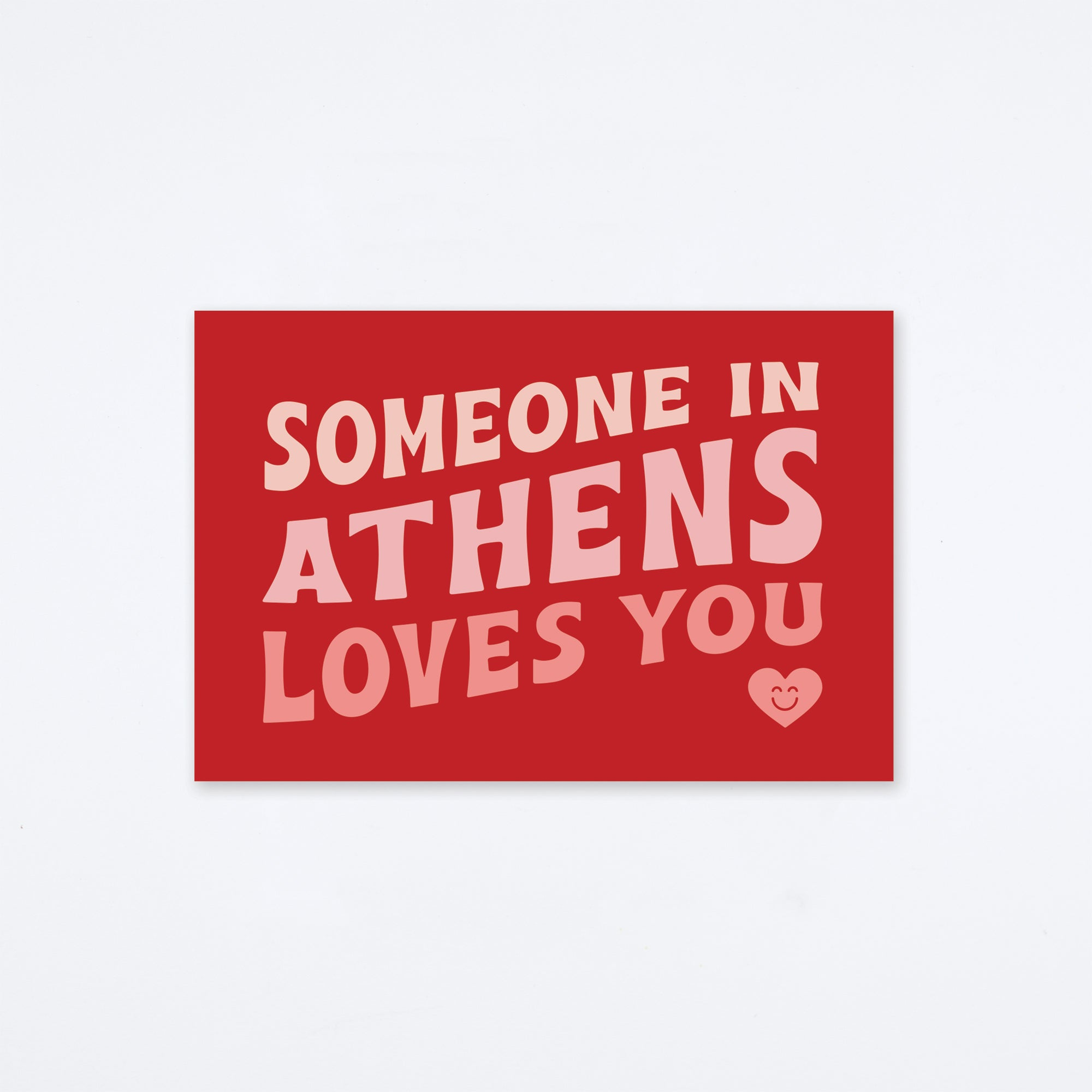 Loves You Athens Postcard