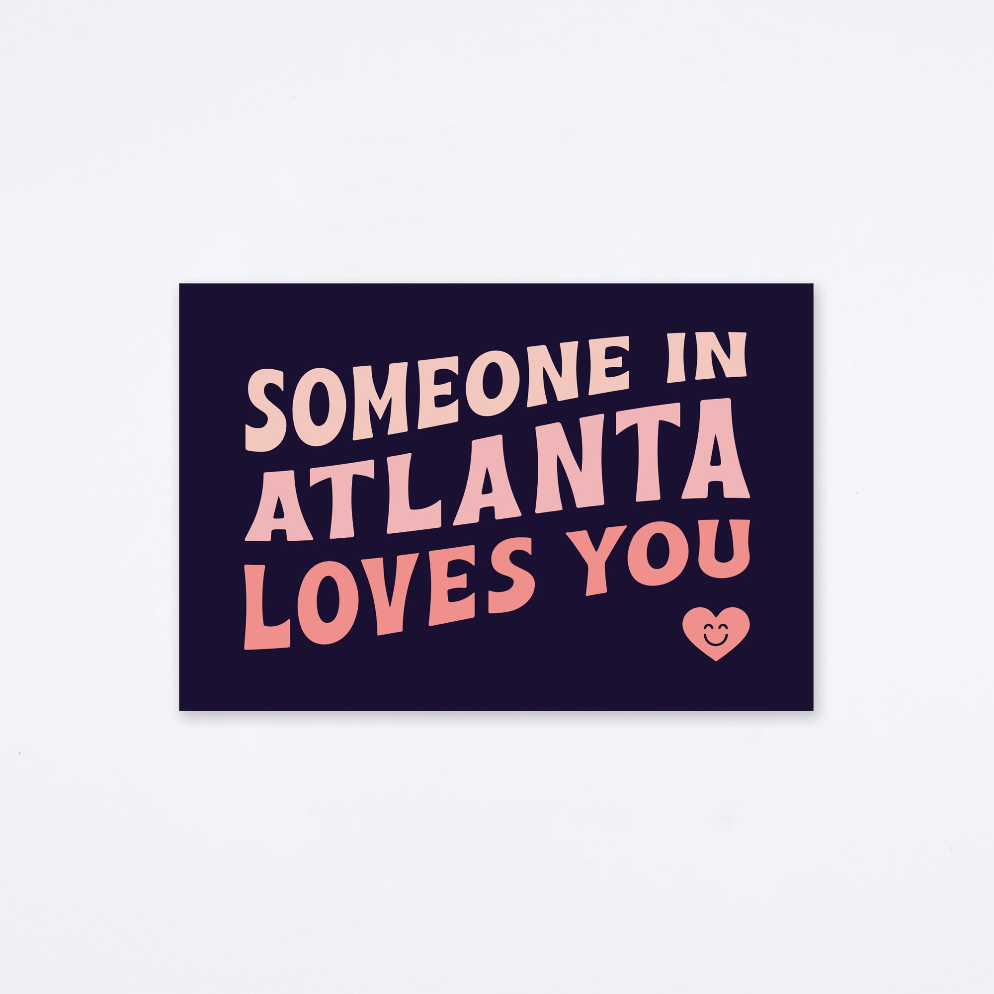 Loves You Atlanta Postcard