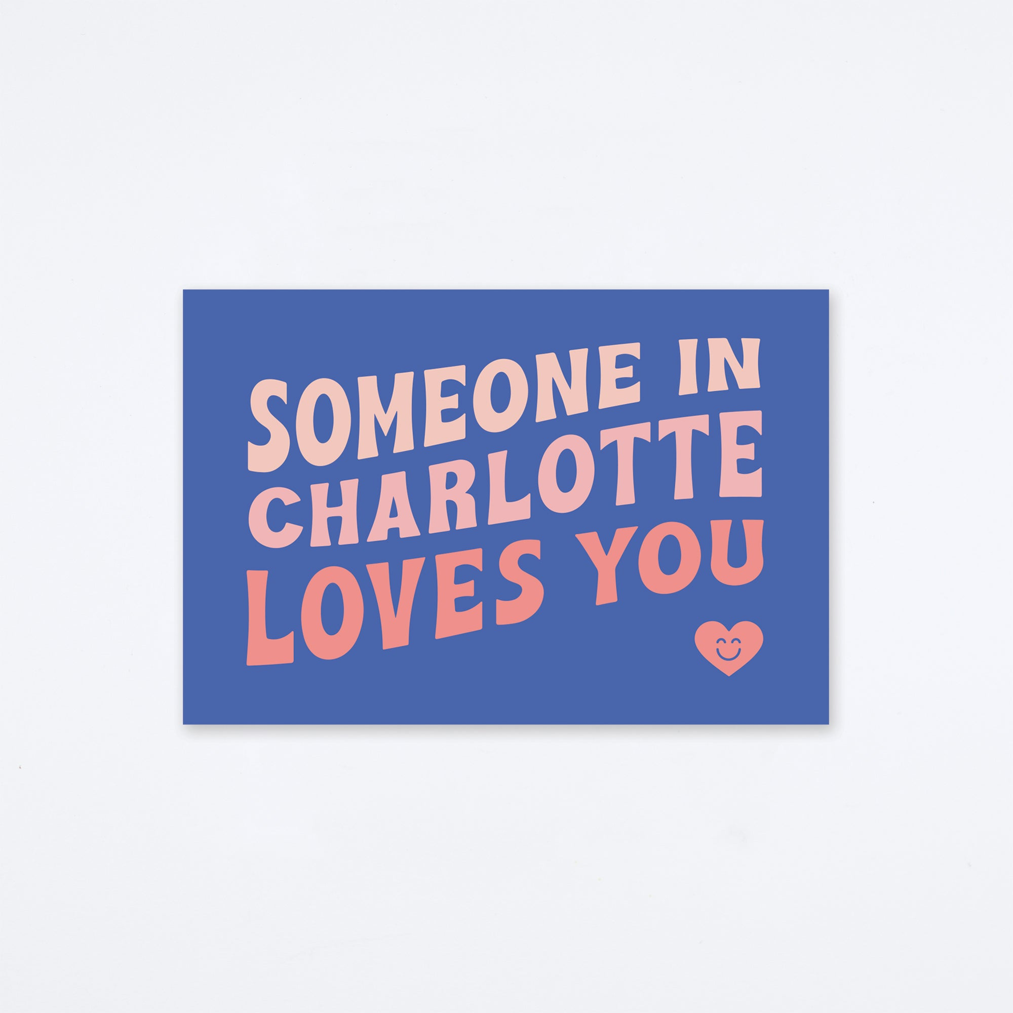Loves You Charlotte Postcard