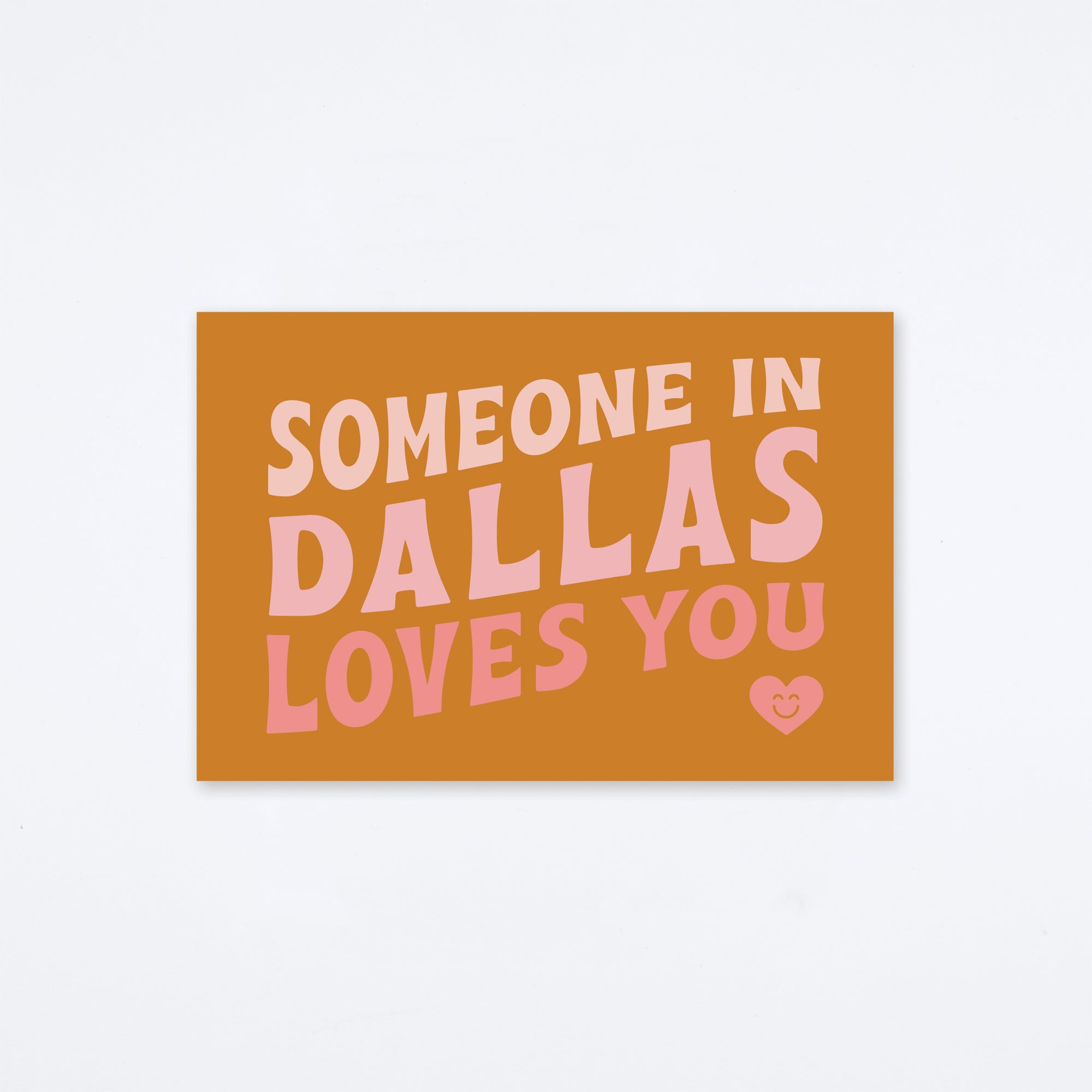 Loves You Dallas Postcard