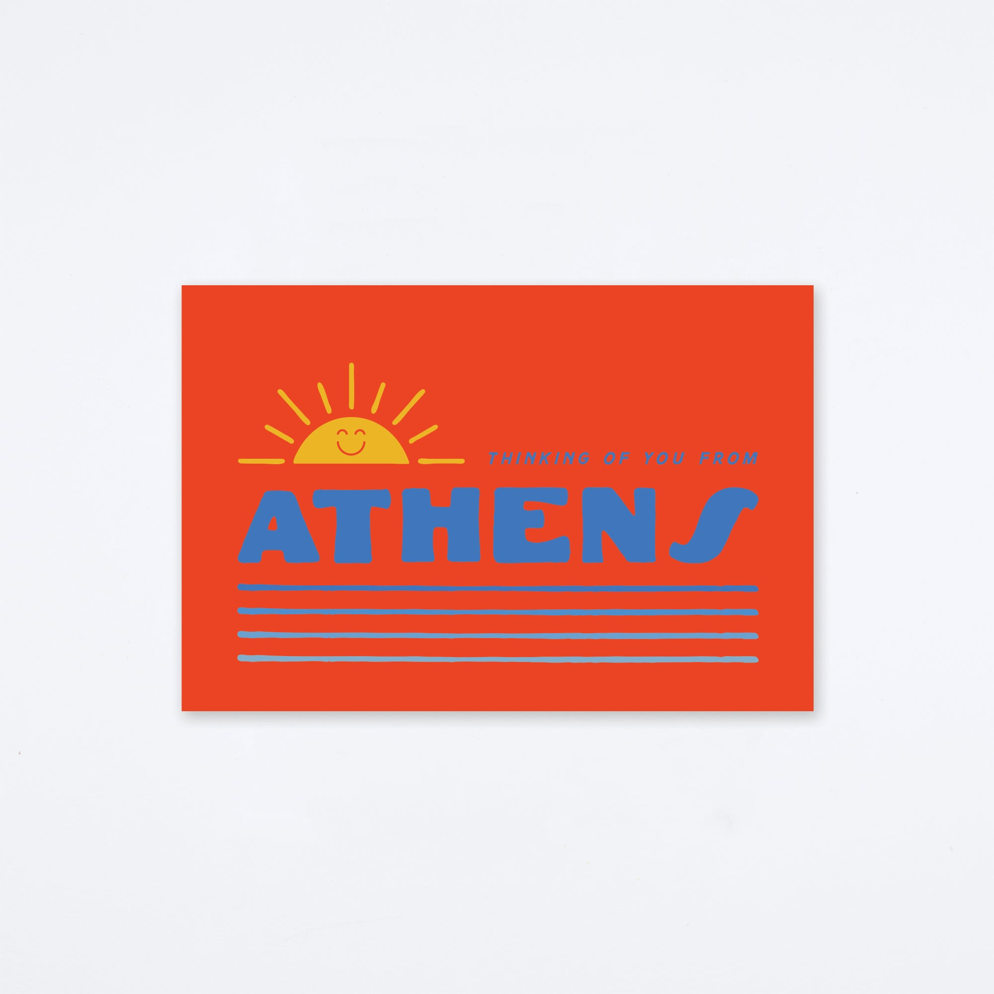 Thinking of You Athens Postcard