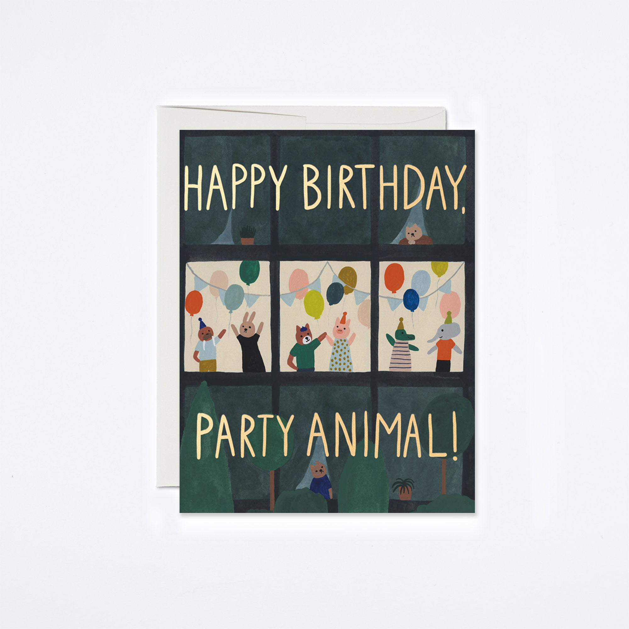 Animal House Birthday Card