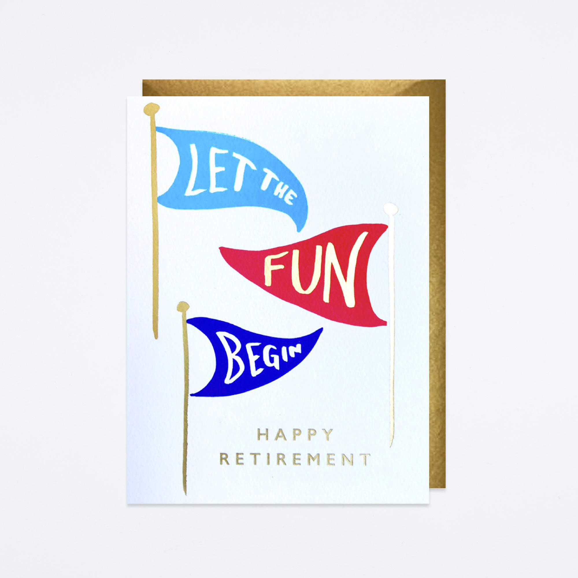 Retirement Flags Card