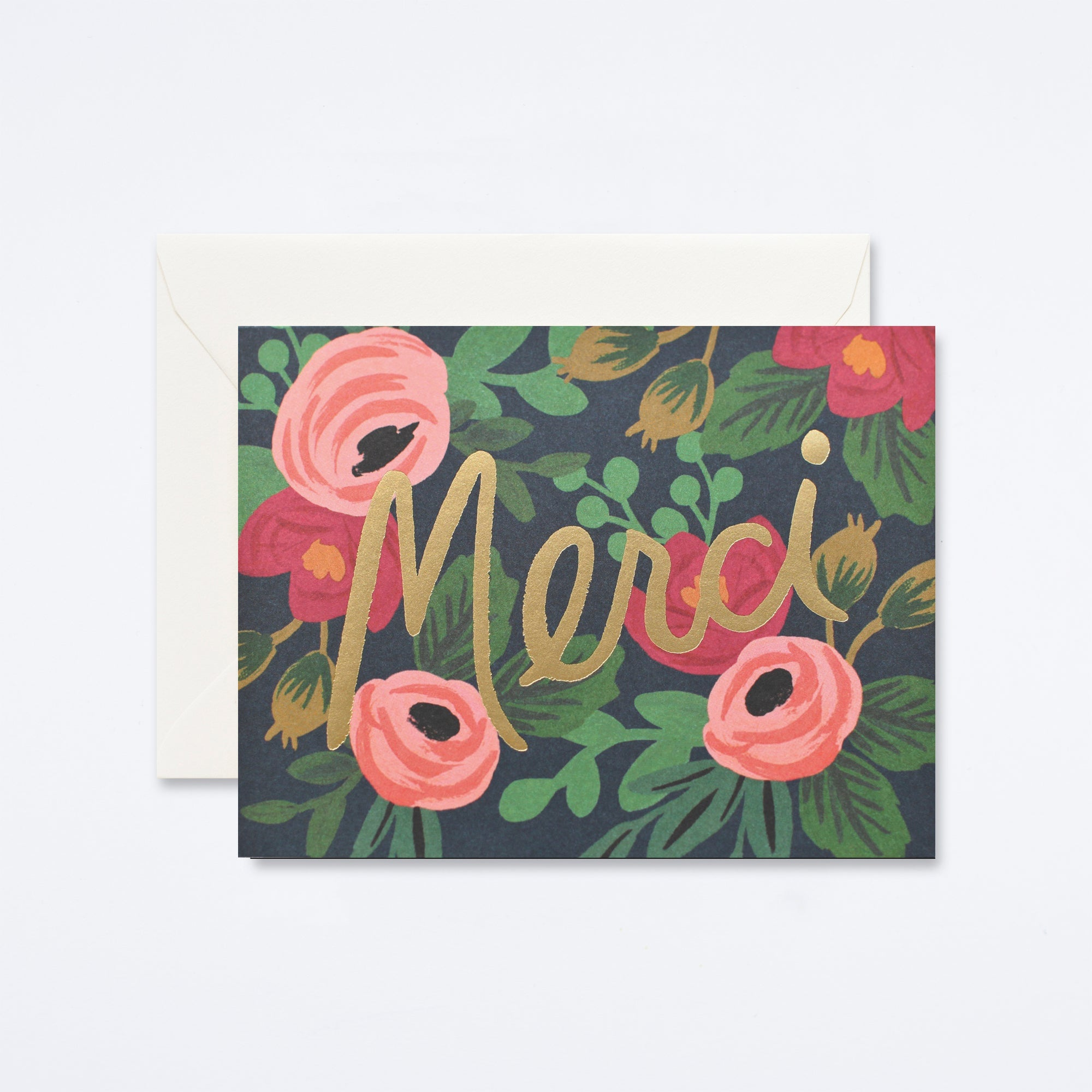 Rosa Merci Thank You Card