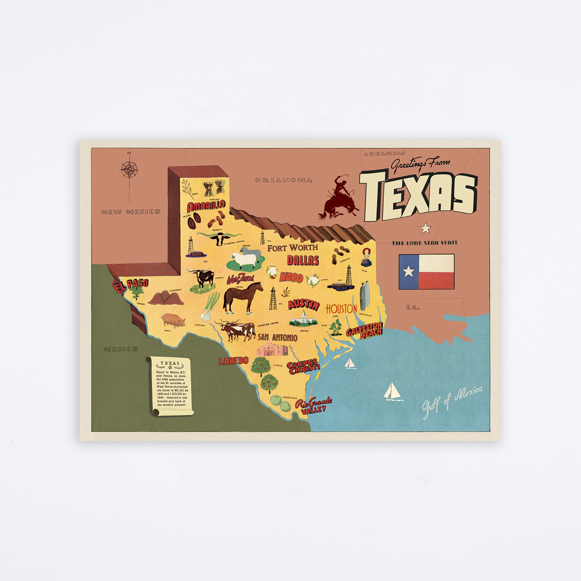 Texas Map Wrap