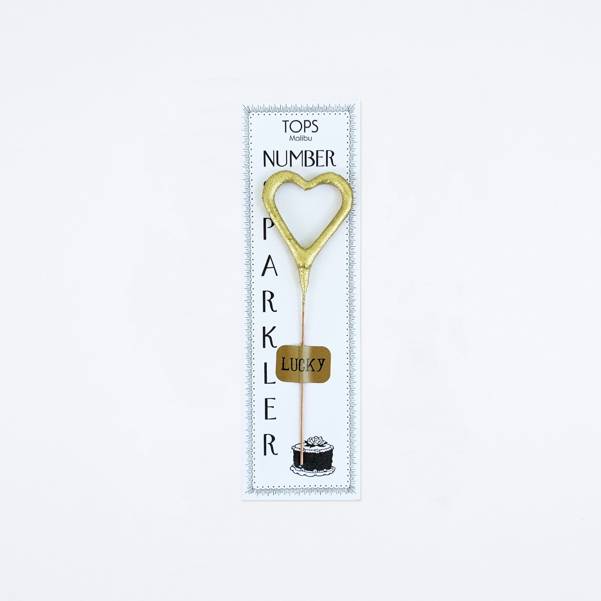 Mini Golden Heart Sparkler
