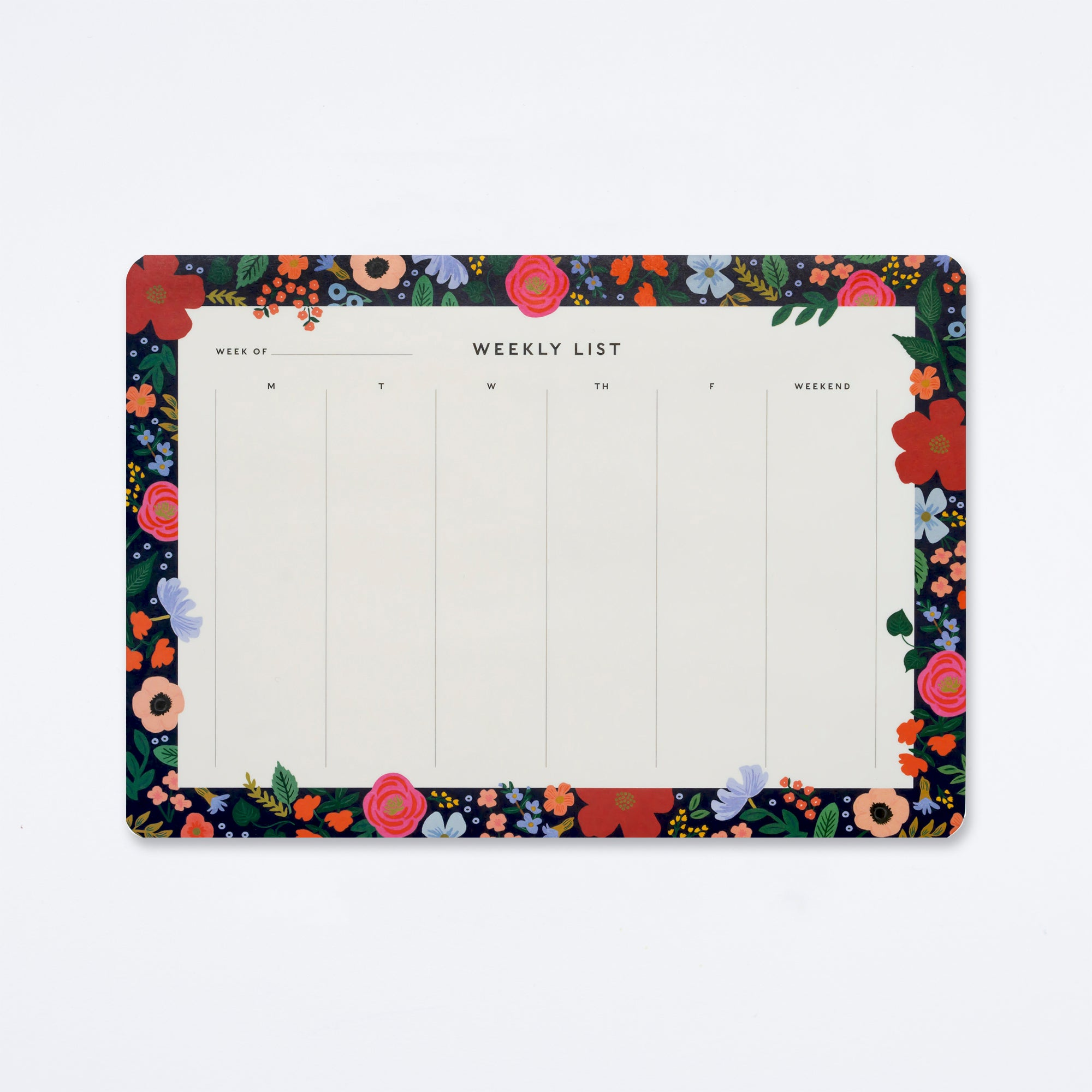 Wild Rose Weekly Desk Pad