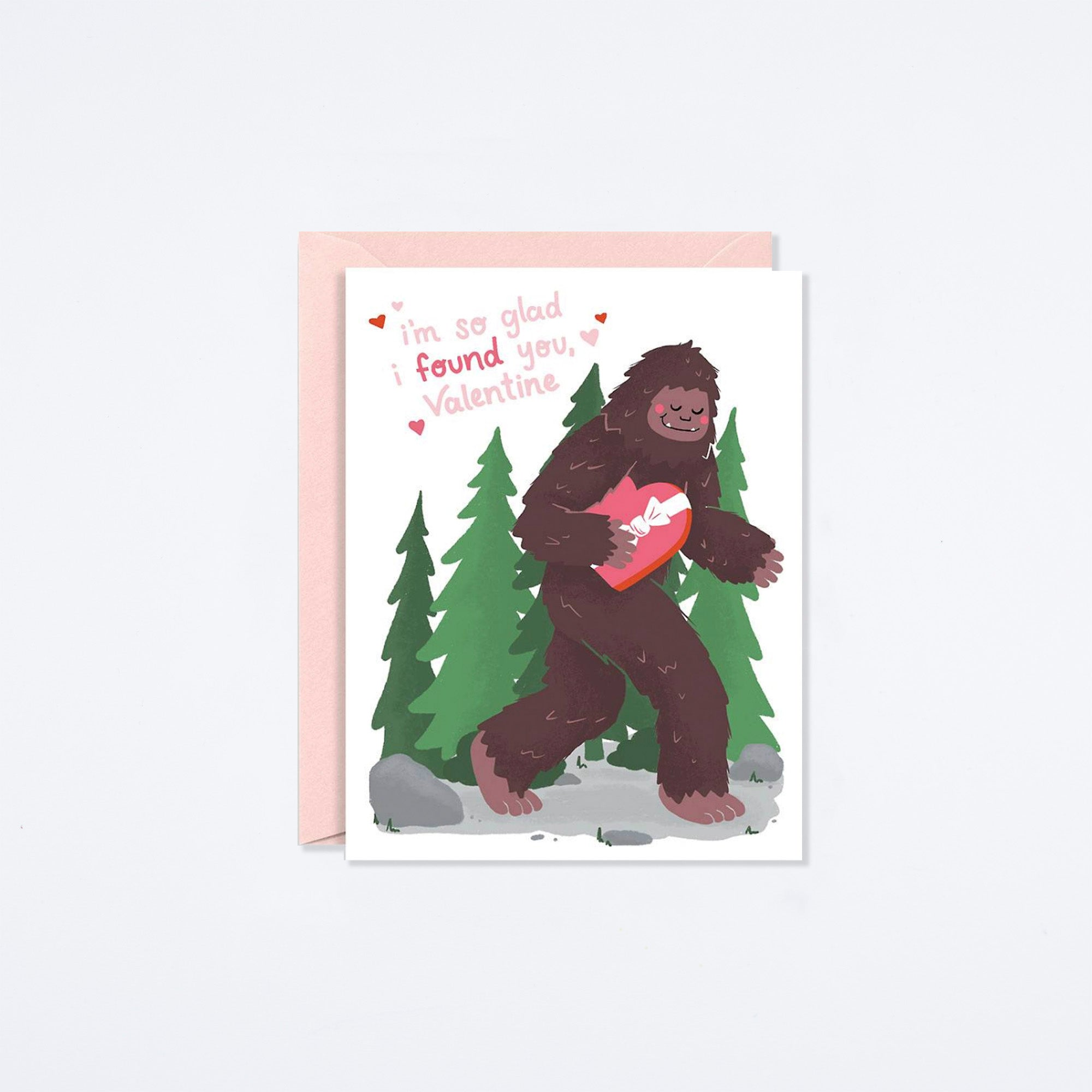 Bigfoot Valentine Card