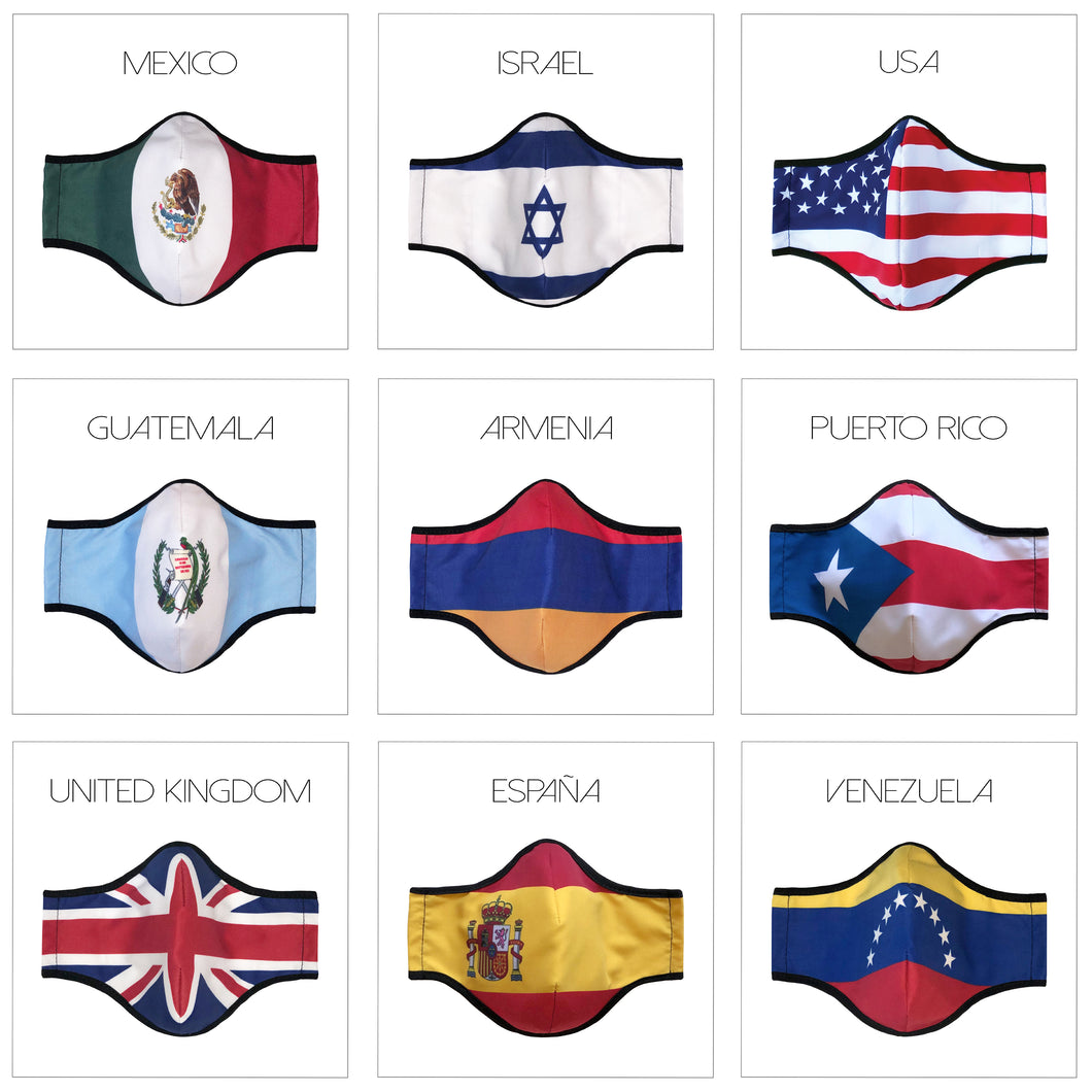 COUNTRY FLAGS ONE SIZE FACE COVERS