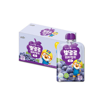 [Paldo] Pororo Water Jelly Grape 120ml*10