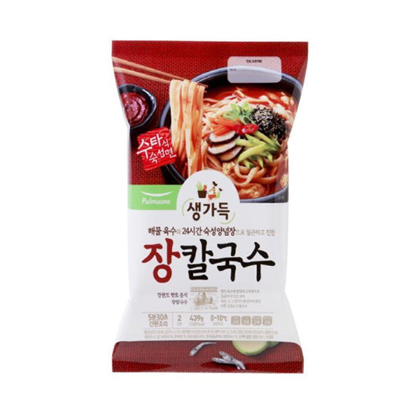 [Pulmuone] Spicy Kalgusu Noodle Soup 439g(For 2 serving)