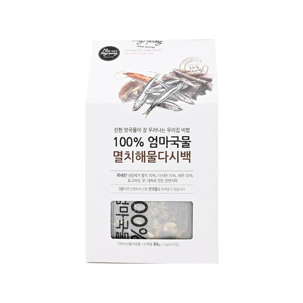 [Haetongryeong] Dried Anchovy & Seafood T-bag Soup Base 84g(14g*6t-bag)