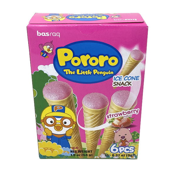 [Pororo] Baked Cone Snack Strawberry Falvor 54g