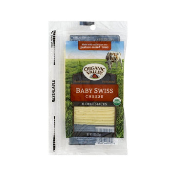 [Organic Valley] Baby Swiss Cheese 8 Deli Slices