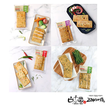 [GRS] Square Fish Cake Set (Veggie, Octopus, Pepper and Leek) 4.59oz*4