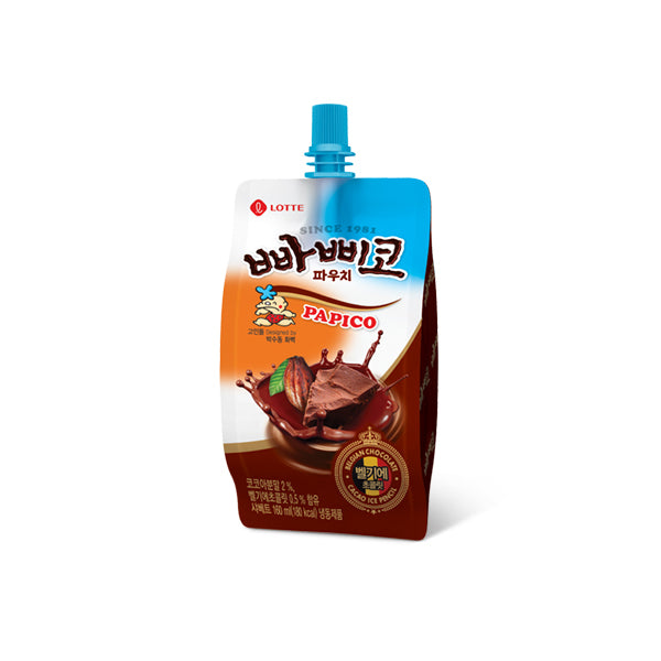 [Lotte] Papiko (Chocolate Falvored Ice pouch) 5pk (130mlx5)