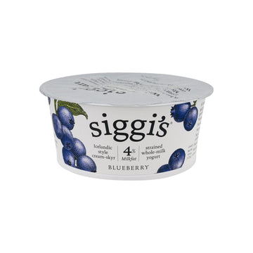 [Siggi's] Icelandic Whole Milk Yogurt Blueberries 4.4oz