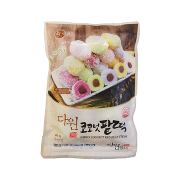 [Dawon] Korean Rice Cake (Coconut & Red Bean) 500g