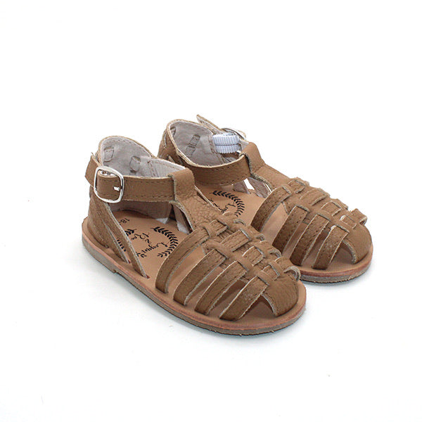 Sunny Weave Sandals in Coffee