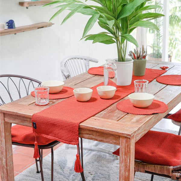 Aster Dining Set - Persimmon Orange