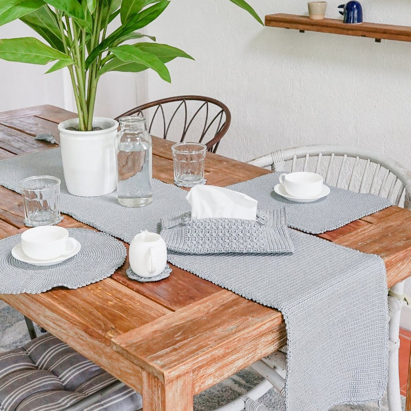 Daisy Dining Set - Bamboo/Graphite