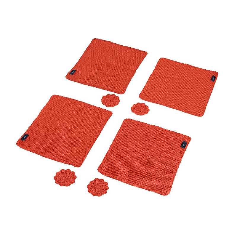 Jasmine Dining Set - Cayenne/Passion Orange