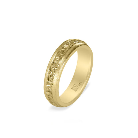 18K Narrow Yellow Gold Unisex Band