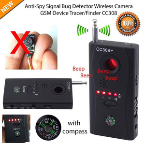 Camara/Bug Detector Anti Spy Mini Wireless Camera Hidden Signal GSM Device Finder Privacy Protection
