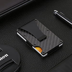 Minimalist Carbon Fiber Slim Credit Card Wallet